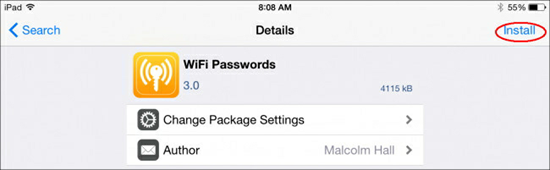 Use Free Apps to View Wifi Password on Jailbroken iPad/iPhone