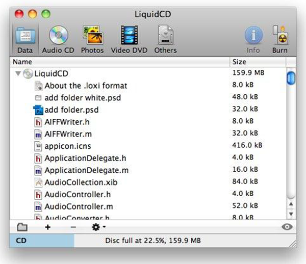 LiquidCD is one of the best Free DVD Burner for Mac.