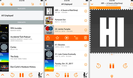 Overcast is one of the top Best Music Apps for Apple Watch.