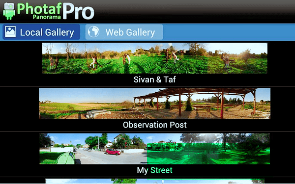 Photaf Panorama Pro is best 360 Degree Camera Apps for Android.