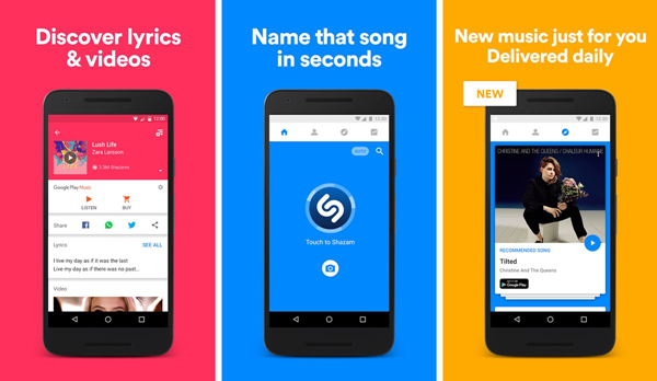 Shazam is best Lyrics Android Apps To Sing Along With The Songs 2019.