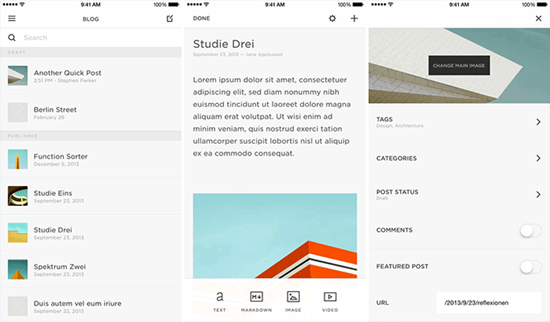 Squarespace Blog is best Blogger Apps for iPhone and iPad.