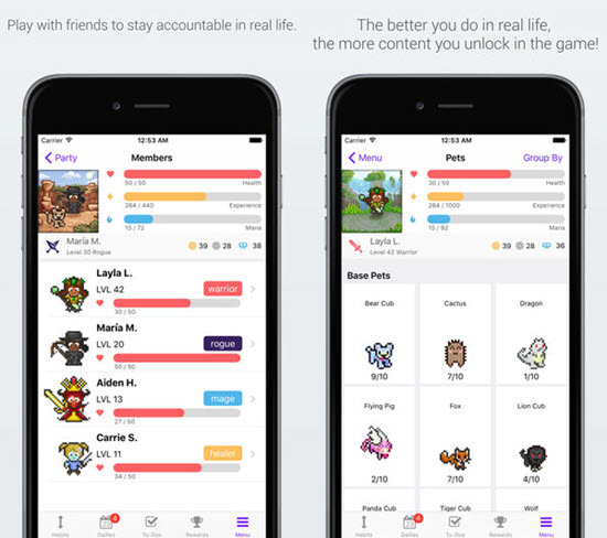 Habitica is one of the best To-do List Apps for Your iOS Device.