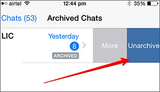 Archive chats in iPhone