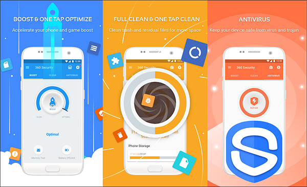 360 Security is one of the best Free Virus Removal Apps for Android.