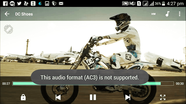 Audio eac3 not supported