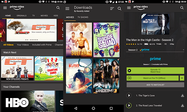 Amazon Prime Video is best free Android TV Apps Not to be Missed.