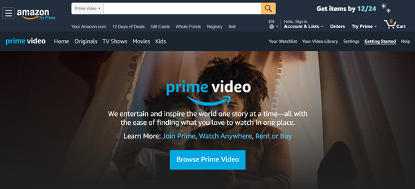 Amazon Prime Video is one of the best websites to Stream Your Favorite Christmas Movies.