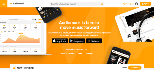 Audiomack is best free Music Download Sites That Are Totally Legal.