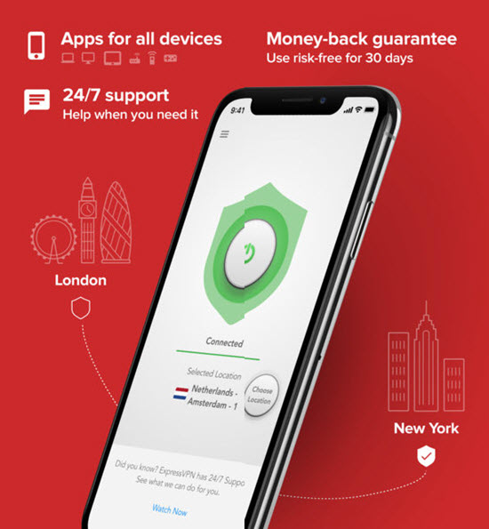 ExpressVPN is one of the best VPN Apps for iPhone.