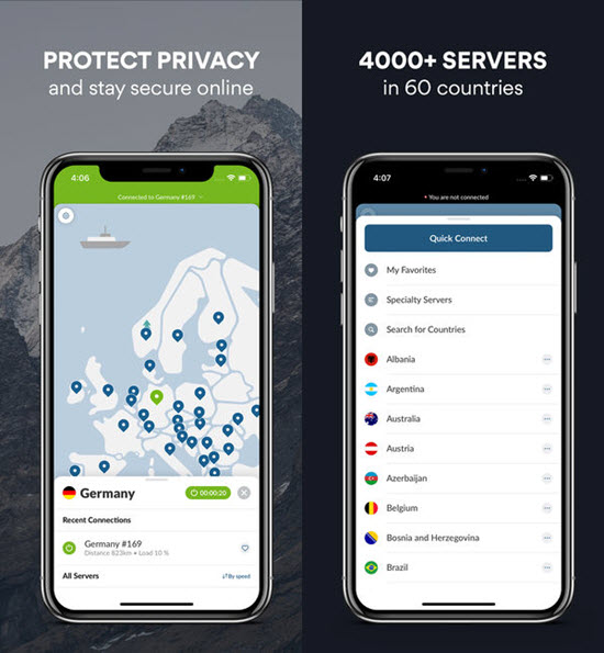 NordVPN is one of the best VPN Apps for iPhone.