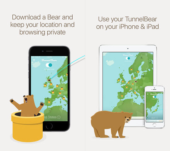 TunnelBear VPN is one of the best VPN Apps for iPhone.