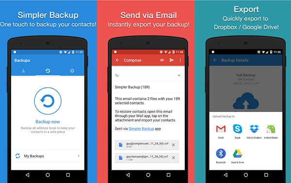 Easy Backup - Contacts Export and Restore is one of the best Backup Apps for Android to Keep Your Data Safe.