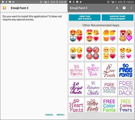 Change Fonts to Emoji Font 3