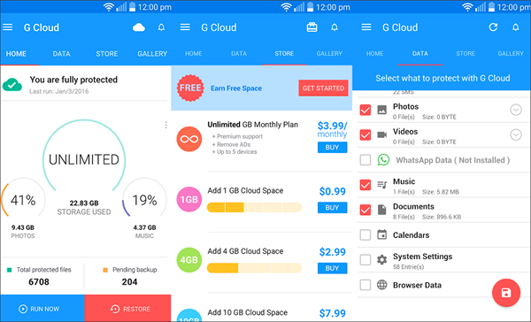 G Cloud Backup is one of the best Backup Apps for Android to Keep Your Data Safe.