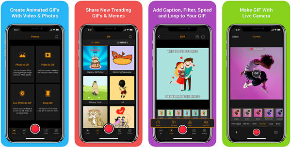 GIF Maker is best free Video to GIF Converter Apps for iPhone.