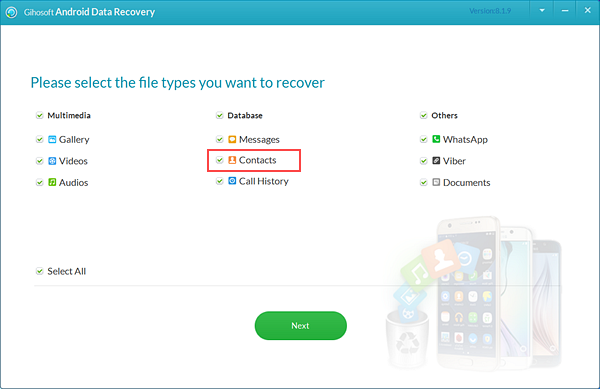 Gihosoft Android Data Recovery.
