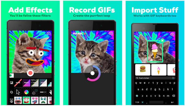 GIPHY CAM is best free Video to GIF Converter Apps for Android.