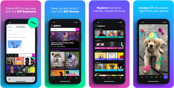 GIPHY for iOS is best free Video to GIF Converter Apps for iPhone.