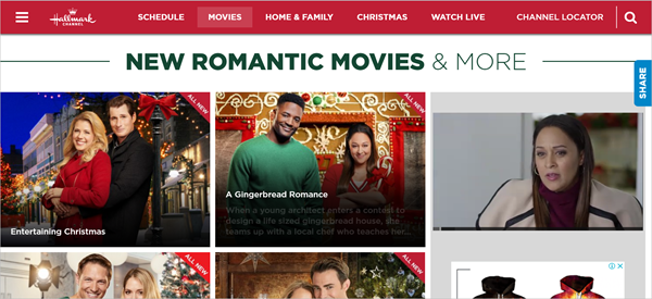 Hallmark Channel is one of the best websites to Stream Your Favorite Christmas Movies.