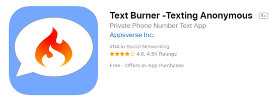 Text Burner is best Anonymous Messaging Apps for iPhone.