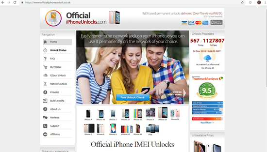 Using Official iPhoneUnlock to Unlock iCloud Lock