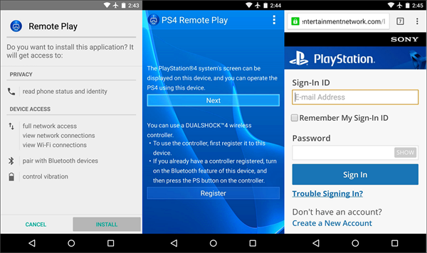 Download and Install Remote Play App for Android