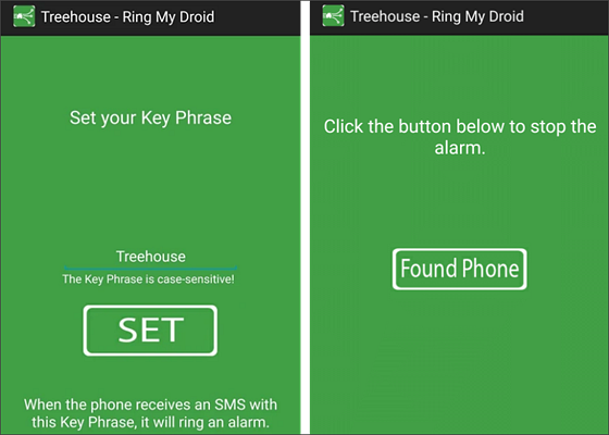 Using Ring My Droid to Find Android Phone Misplaced in Silent Mode.