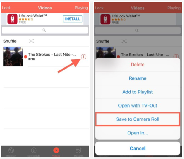 how to download youtube videos to iphone camera roll 2015