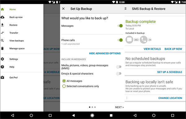 SMS Backup & Restore is one of the best Backup Apps for Android to Keep Your Data Safe.
