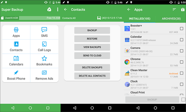 Super Backup & Restore is one of the best Backup Apps for Android to Keep Your Data Safe.