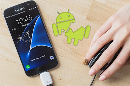 Using OTG adapter to Unlock Android Phone with Broken Screen.