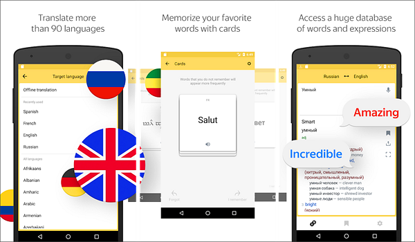 Yandex.Translate is best free Language Translation Apps for Android.