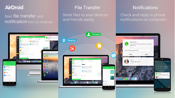 AirDroid is best Android File Transfer Apps to Transfer Android Data.