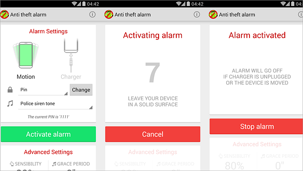 Anti Theft Alarm is best Anti-Theft Apps for Android.