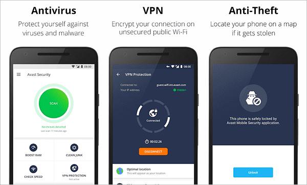 Avast Antivirus is best Anti-Theft Apps for Android.