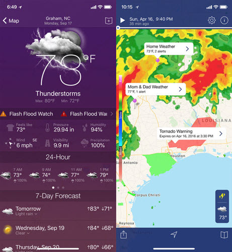 NOAA Radar Pro is best Weather Apps for Your Apple Watch.