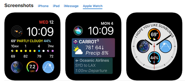 Carrot Weather is best Weather Apps for Your Apple Watch.
