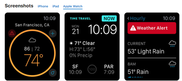 Weather Underground is best Weather Apps for Your Apple Watch.