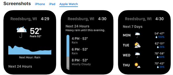 Dark Sky is best Weather Apps for Your Apple Watch.