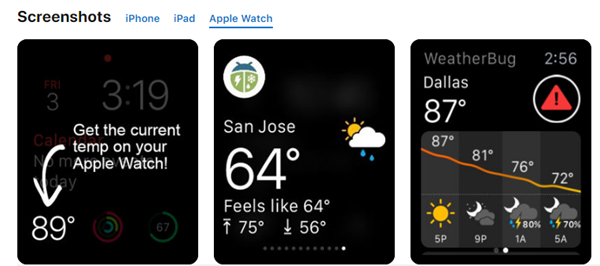 WeatherBug is best Weather Apps for Your Apple Watch.