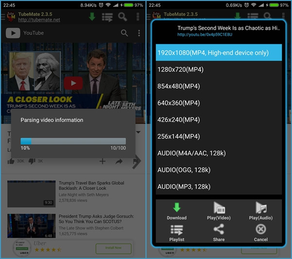 best youtube video downloader for andorid
