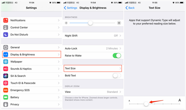 How to Adjust the Font Size on iPhone/iPad