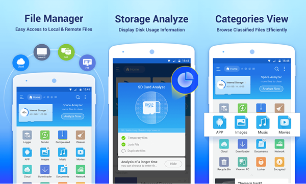 ES File Explorer is best Android File Transfer Alternatives.