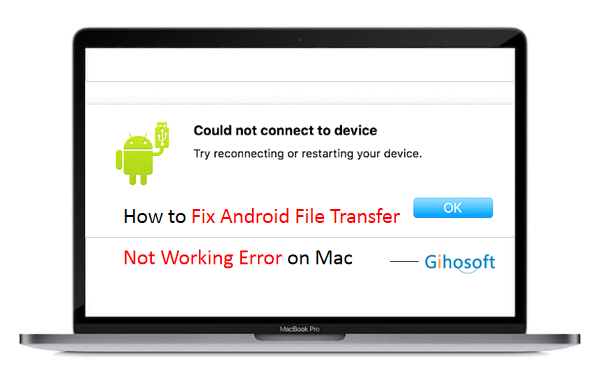 android file transfer application not responding mac
