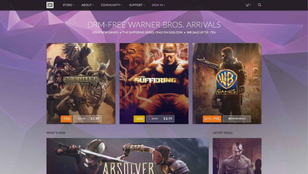 GOG is one of the best PC Game Download Websites.