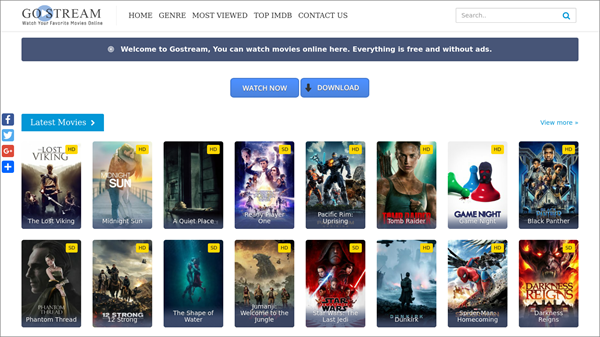 GoStream is one of the best Alternative Sites to Solarmovie for You.