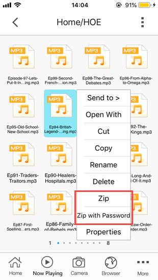 How to Zip Files on iPhone/iPad