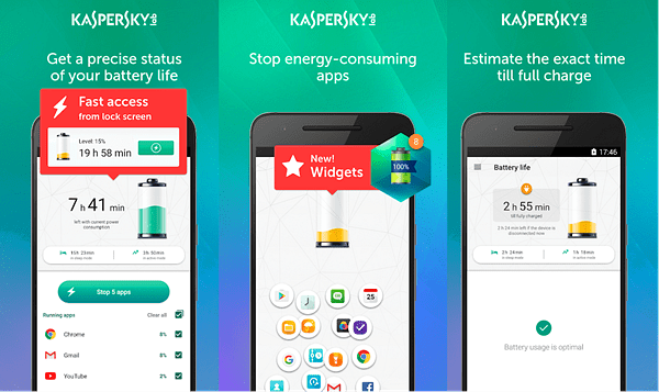 Kaspersky Battery Life is one of the best Battery Saver Apps for Android.