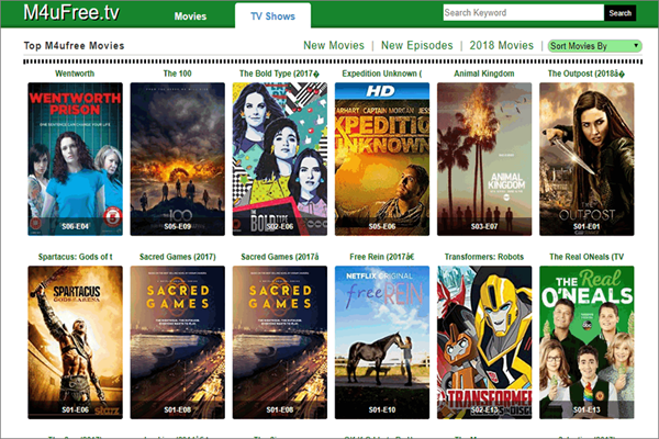 M4uFree.tv is one of the best Alternative Sites to Solarmovie for You.